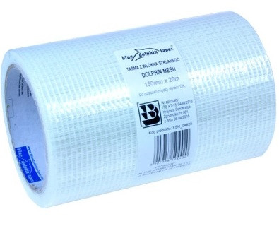 Blue Dolphin rácsos szalag gipszkartonhoz,öntapadós 150mm*20m (24db/karton) 10-1-07-EN EAN:5907758504420
