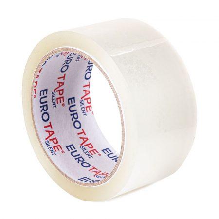 Eurotape SILENT - HALK üzemű erős csomagolószalag 50mm/60m transparent    36db/karton