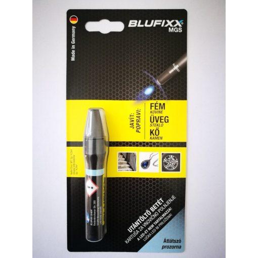 Blufixx fényre megkeményedő javító átlátszó gél patron 5g - fém,üveg és kő anyagokhoz. (10db/karton)