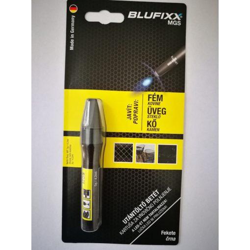 Blufixx fényre megkeményedő javító fekete gél parton 5g - fém,üveg és kő anyagokhoz. (10db/karton)