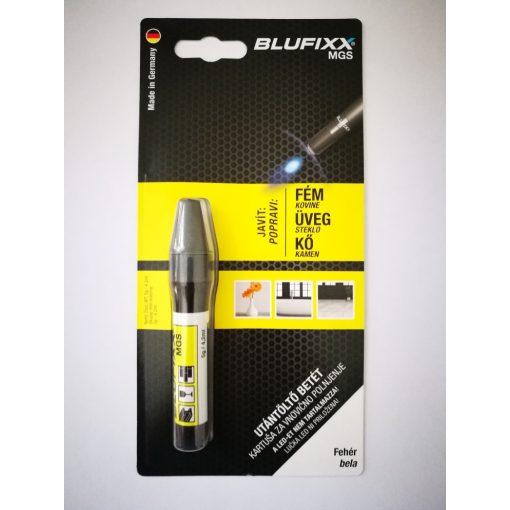 Blufixx fényre megkeményedő javító fehér gél patron 5g - fém,üveg és kő anyagokhoz. (10db/karton)