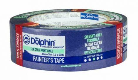 Blue Dolphin kül-beltéri kék festő- maszkoló szalag 14napos UV-álló 48mm x 50m 24db/karton