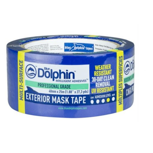Blue Dolphin kültéri festő-maszkoló szalag UV-álló, KÉK-30 napos, 48mmx25m