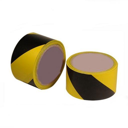 EuroTape Kordonszalag (jelölőszalag) sárga/fekete 75mmX100m 24db/karton