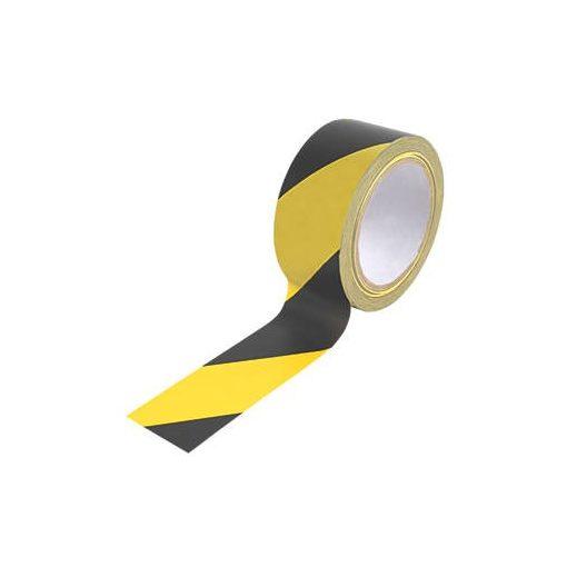 EuroTape Kordon ragasztószalag (jelölőszalag) 48mmX33m sárga/fekete 36db/karton