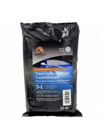 Gorilla Wipes tükör és üvegfelület tisztítókendő 30db/csomag (12csomag/karton) EAN:5996275232947